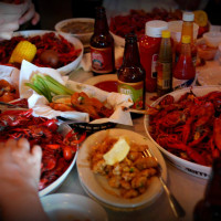 Evangeline Cafe Austin restaurant crawfish boil cajun food