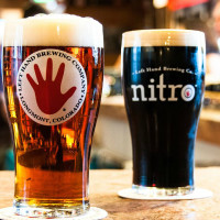 Left Hand Brewing Company beer nitro glass