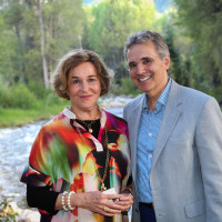 News, Shelby, M.D.Anderson in Aspen, July 2015, Barbara Hines, Dr. Ron DePinho