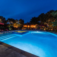 Mandola's estate in Austin pool