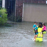 Houston, Hurricane Harvey, flood photos, Houstonians are resilient