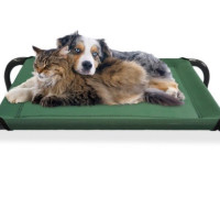 steel-framed raised pet bed on Groupon