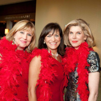 News_Go Red Luncheon May 2011_Lu Caltagirone_Ilene Allen_Christine Baranski