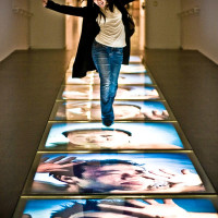 News_MFAH_photo contest_Take a Shot_girl_light strip