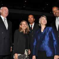 News_Houston B-Day_Robert McNair_The Honorable Kathryn J. Whitmire_Jose Cruz_The Honorable Annise Parker_Dr. Bernard A. Harris Jr