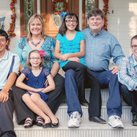 DePelchin Gallagher family with foster adopted children