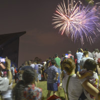Houston Symphony at Miller Outdoor Theatre ExxonMobil Summer Symphony Nights May 2014 fireworks