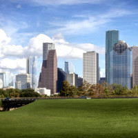 hines tower houston chronicle building skyline view