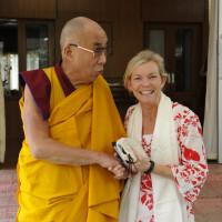 The Dalai Lama and Molly Carroll