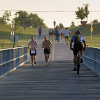 White Rock Lake runners