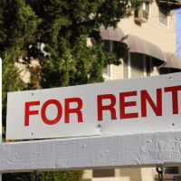 apartment house for rent sign