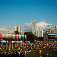 ACL Music Festival, group of people on concert grounds