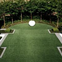 River Oaks art garden backyard Love Where You Live