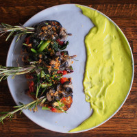 Rosemary Skewered Snails at Helen Greek Restaurant