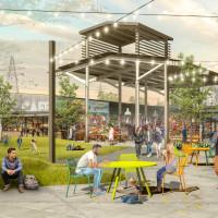 Houston Farmers Market courtyard rendering