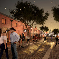 Mule Alley rendering, Fort Worth Stockyards