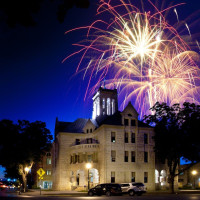 New Braunfels downtown fireworks