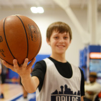 Young boy at Mavs Basketball Camp