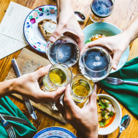 Dinner with Fairweather Cider and St. Elmo Brewing