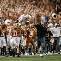 Texas Longhorns sidelines Oklahoma state tom herman