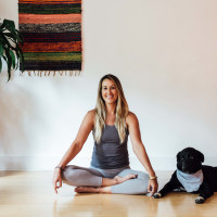 Super Yoga Palace instructor Kristin Goss
