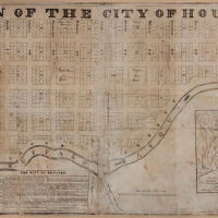 Original plan of the city of houston antiquairum