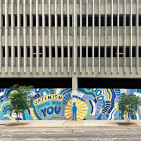 Downtown Dallas Frost mural