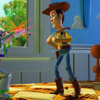 Buzz Lightyear and Woody in Toy Story