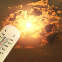 thermometer heat hot sun