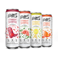 Shiner straight shooter hard seltzer cans