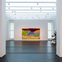 Menil Collection Installation view of Helen Frankenthaler, Hybrid Vigor, 1973