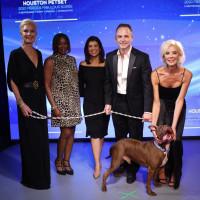 Houston PetSet Fierce Fabulous Soiree 2020 Tena Lundquist Faust, Deborah Duncan, Lisa Hernandez, Johnny Bravo Holloway, Tama Lundquist and Adoptable Dog Polo