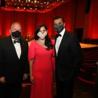 Houston Symphony opening night gala 2020 John Mangum, Houston Symphony CEO/Executive Director; John Rydman, new Symphony Board President; Sippi and Ajay Khurana