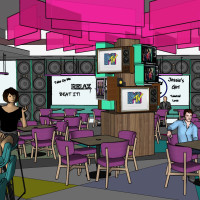 Hungry like the Wolf interior rendering