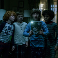 Gavin Maciver-Wright, Winslow Fegley, Azhy Robertson, and Jayden Marine in Come Play