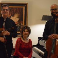 String trio: Michael Fahey, Mary Peterson, Kareem Goode