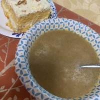 Sammy's potato soup, ambrosia cake