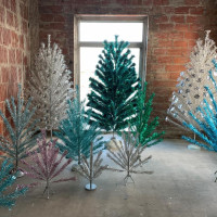 """Space Age Christmas Trees"""