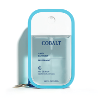 Cobalt hand sanitizer Peppermint clip-on