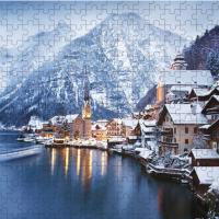 Winter view of Hallstatt, puzzle