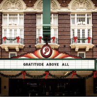 Paramount Theatre holiday marquee