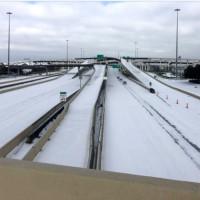 ice snow houston roads txdot freeway
