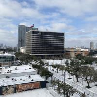 Houston Midtown snow HCC 2021
