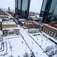 Downtown Fort Worth snow