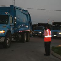 City of Houston garbage trucks