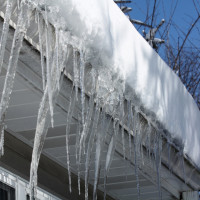 Icicles on a house