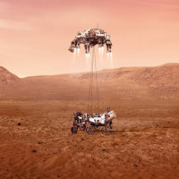 Perseverance rover landing Mars helicopter