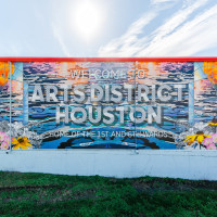 Arts District Welcome Center mural