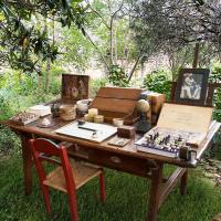 Frida Kahlo's desk at Frida Kahlo Oasis exhibit