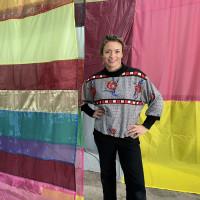 Rachel Hayes artist fabric art installation